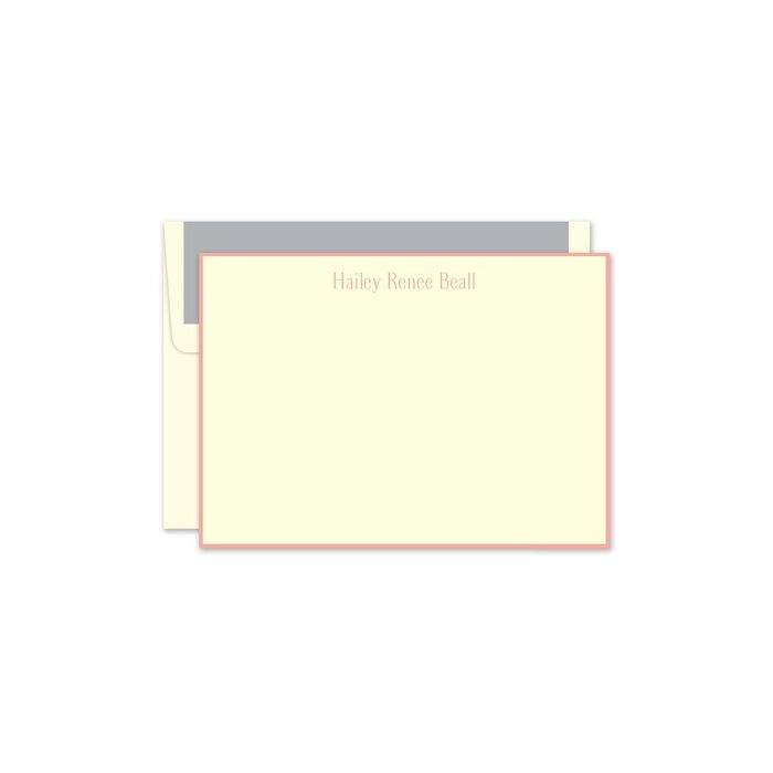 Peach Ivory Flat Card