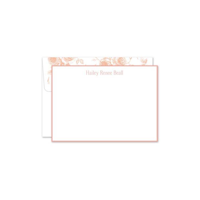 Peach White Flat Card