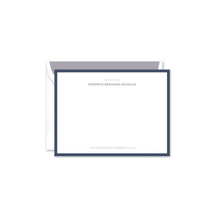Regal Navy Flat Card