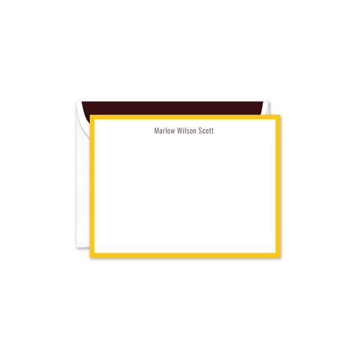 Sunshine Edge Flat Card