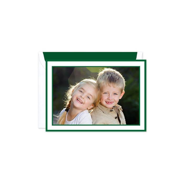 Holly Border Photo Card