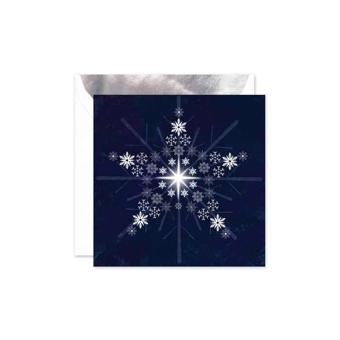 Snowflake Star Greeting Card