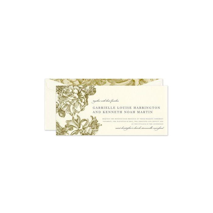 Gilded Bloom Invitation