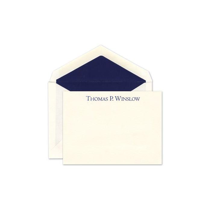 Ecru Prestige Flat Card