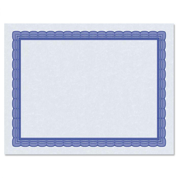 Executive Blue Certificate on Blue Parchment - Set of 100