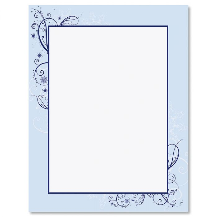Frosted Glimmer Frame Letter Papers