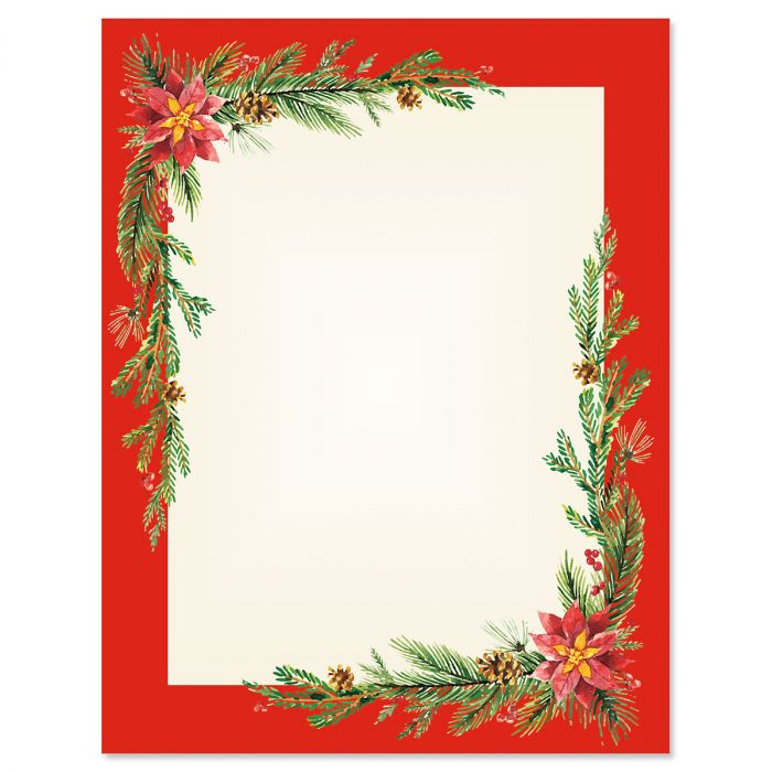 Festive Foliage Frame Letter Papers