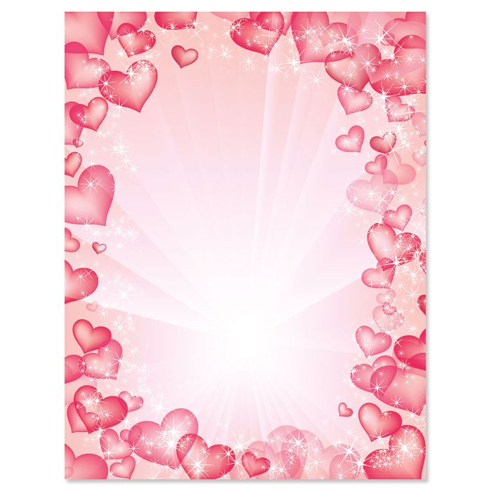 Celestial Hearts Letter Papers