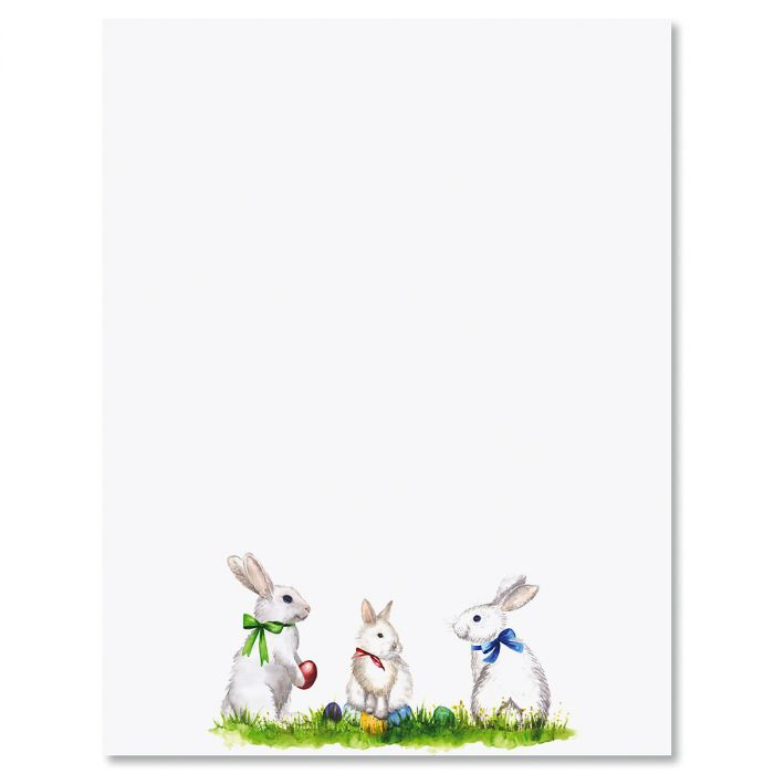 Easter Bunnies Letter Papers