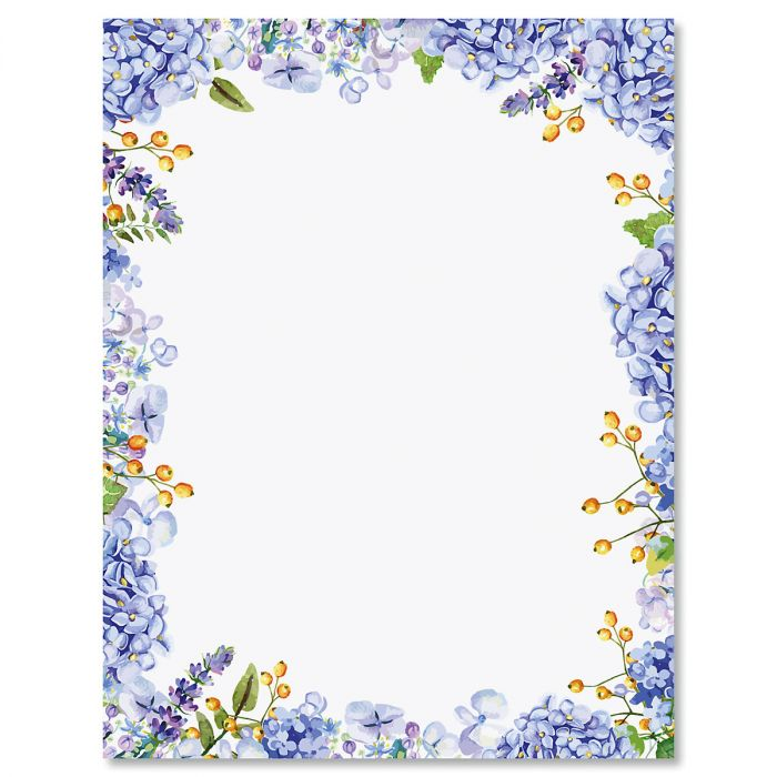 Hydrangea Letter Papers