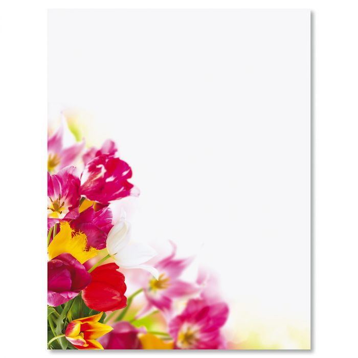 Tulip Bouquet Letter Papers
