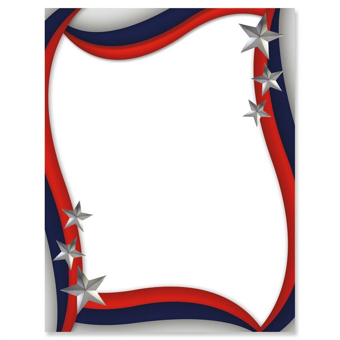 Spangled Stars Letter Papers