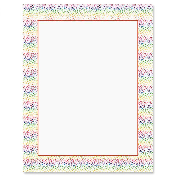 Splatter Rainbow Letter Papers
