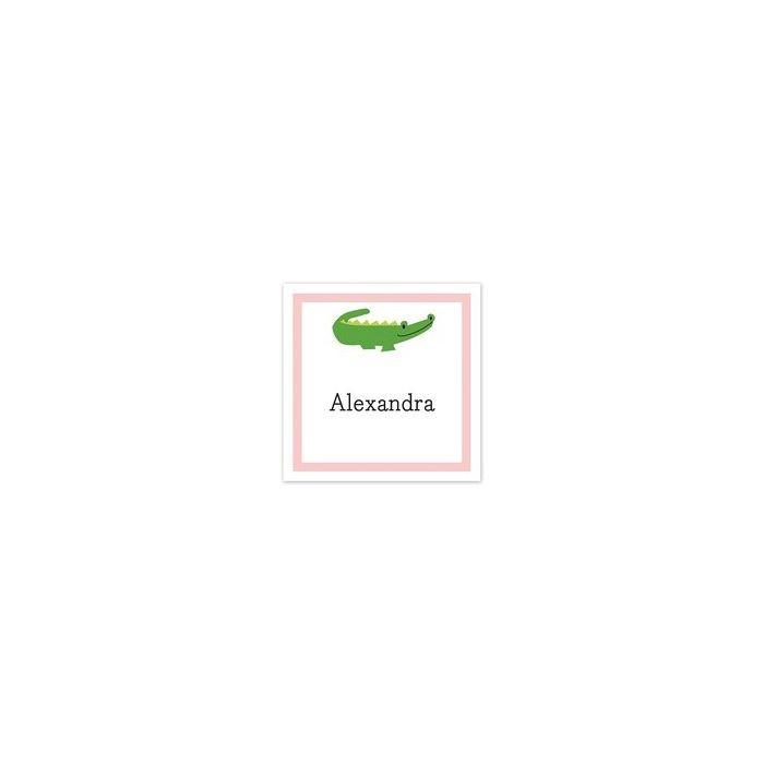 Alligator Pink Sticker