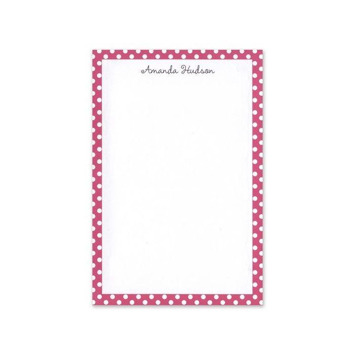 Pink Polka Dot Note Pad