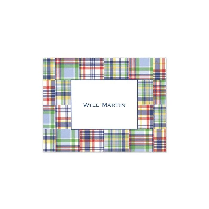 Blue Madras Note Card