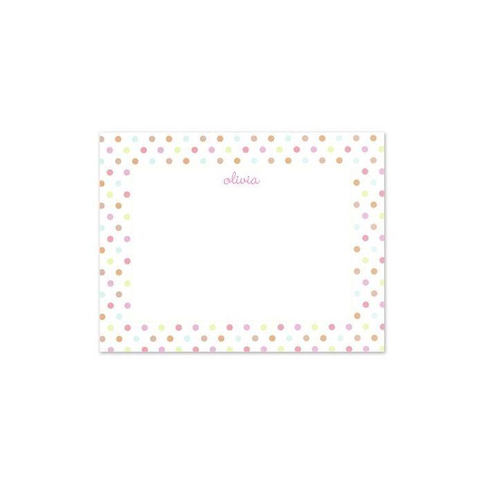 Simple Pink Confetti Flat Card