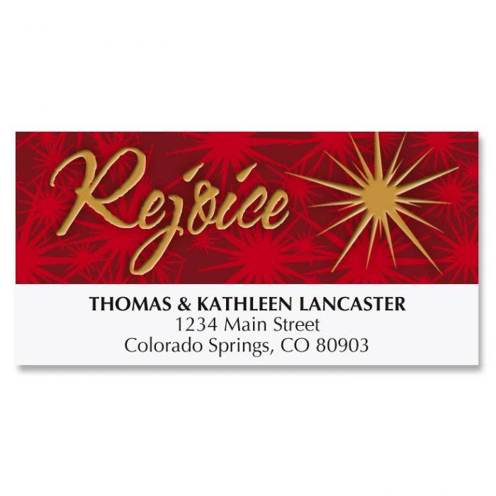 Tree of Faith Christmas Address Labels
