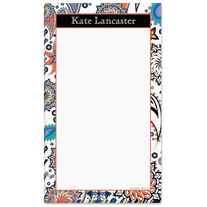 Color Paisley Note Pad