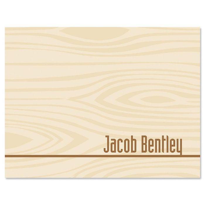 Woodgrain Note Cards
