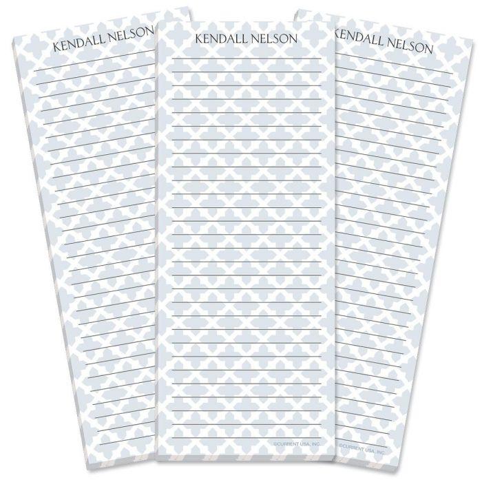 Quatrefoil Lined List Pad
