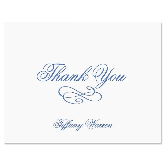 Tiffany Thank You Note Cards