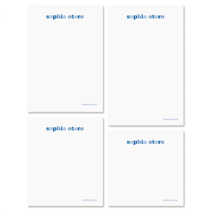Color Wash Note Pad Set-Blueberry-609300A