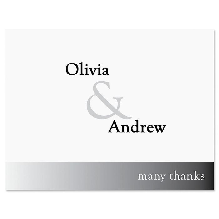 Ampersand Thank You Note Cards