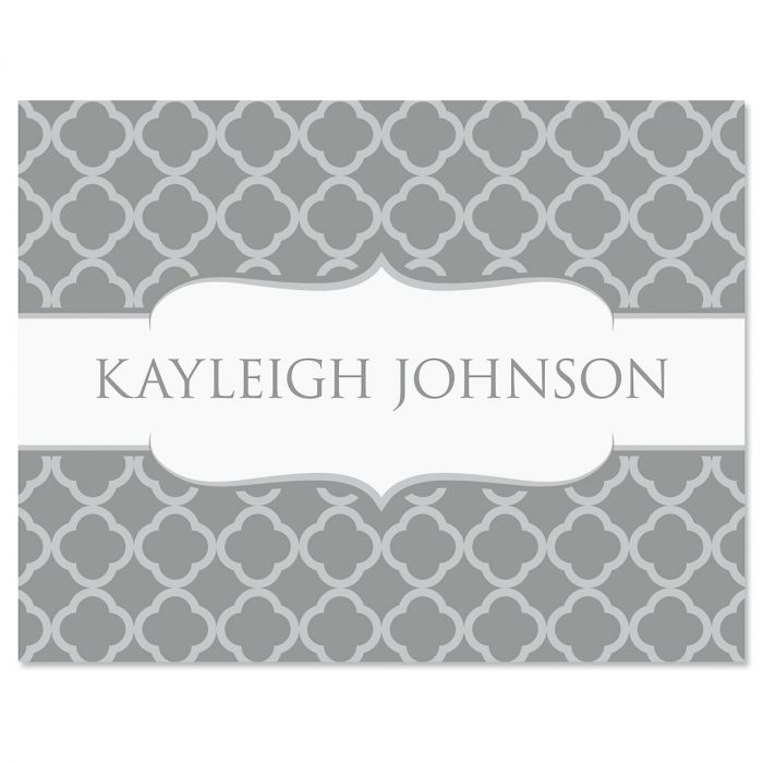 Renaissance Note Cards-Gray-611448B