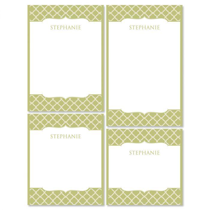 Renaissance Note Pad Set-Olive-613873C