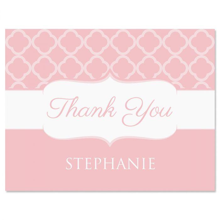 Renaissance Thank You Cards-Pink-613875E