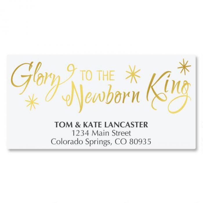 Glory Newborn King Deluxe Address Labels