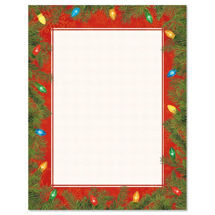 Tree Lights Letter Papers
