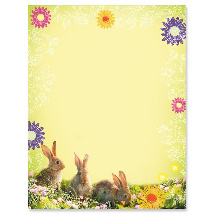 Photo Bunnies Letter Papers