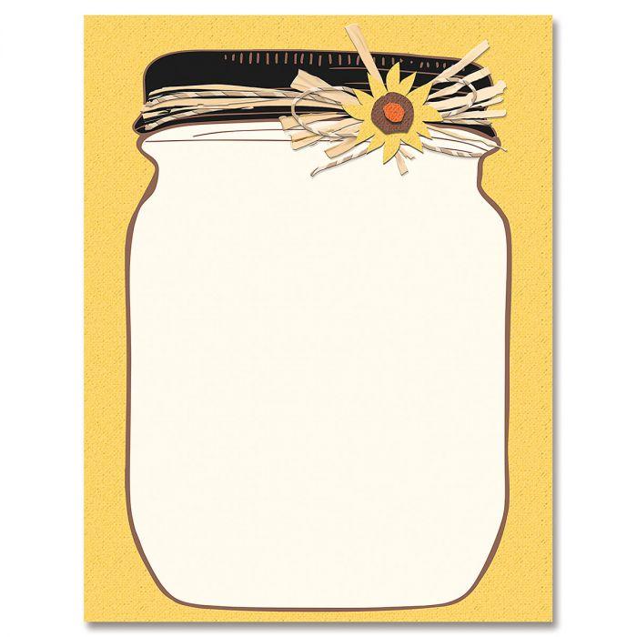 Halloween Jar Letter Papers