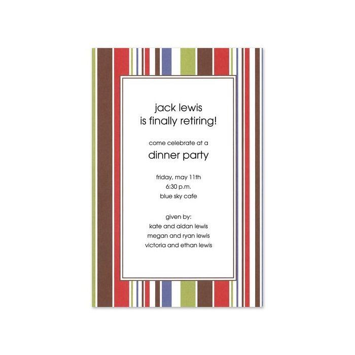 Summer Stripe Invitation