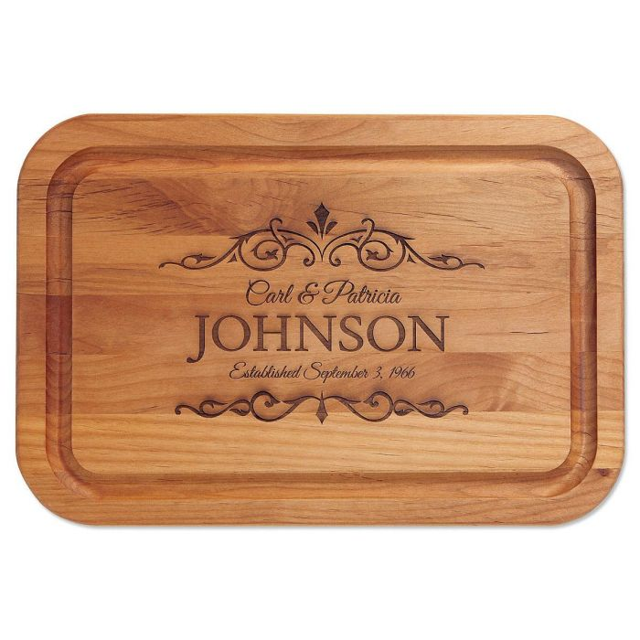 Established Engraved Alder Wood Cutting Board