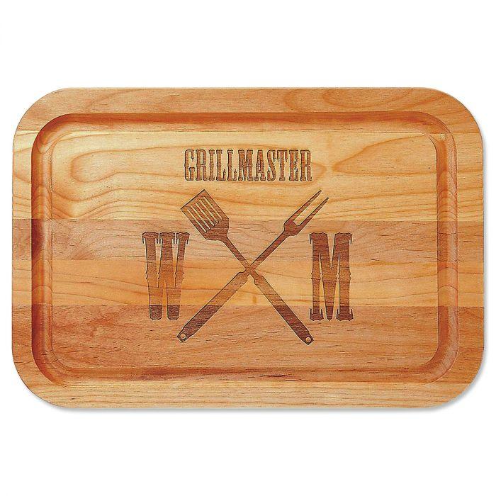 Grillmaster Engraved Alder Wood Cutting Board