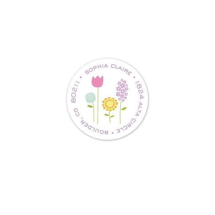 Baby Garden Address Label