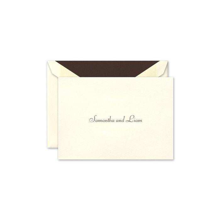 Ecru Note Card