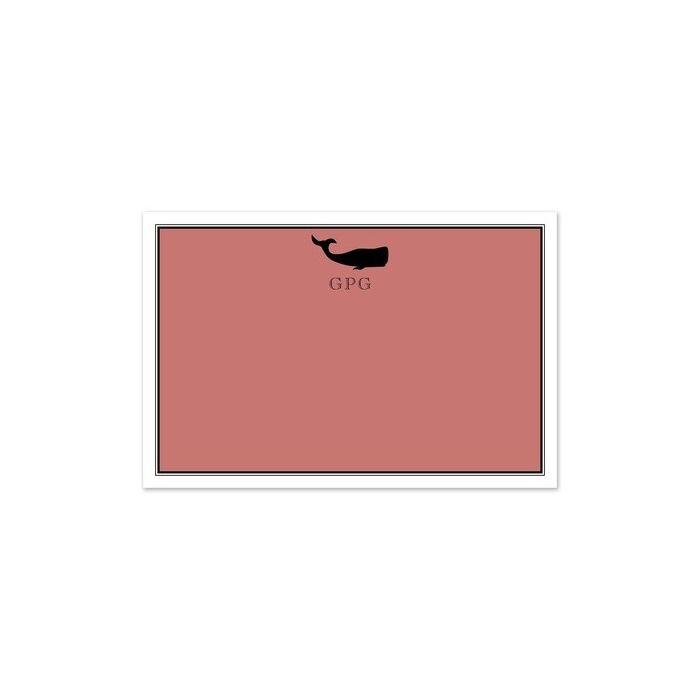 Nantucket Whale Flat Card