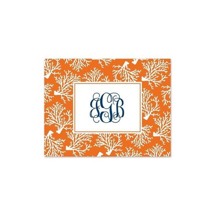 Orange Coral Note Card