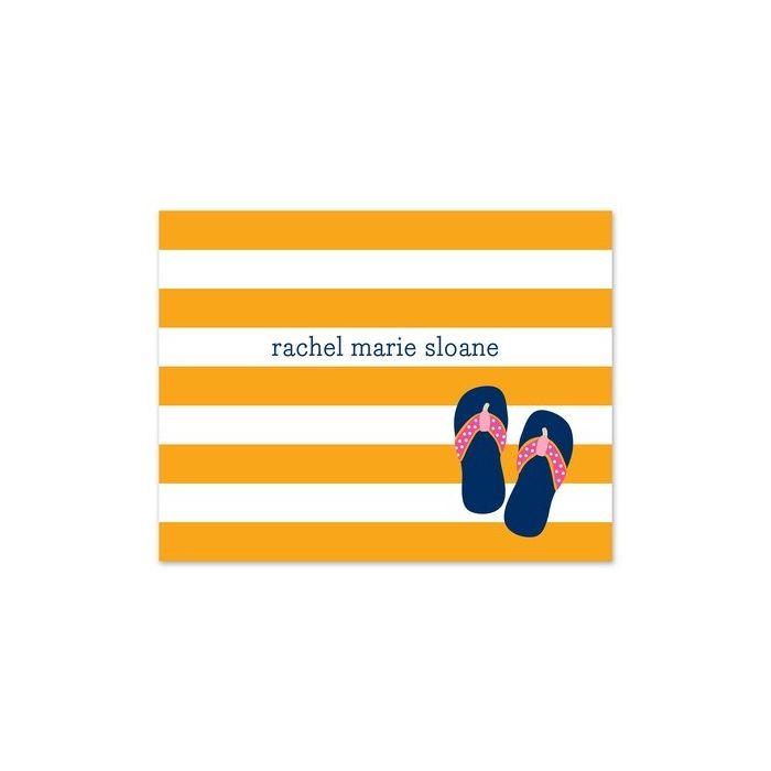 Stripe Flip Flops Note Card