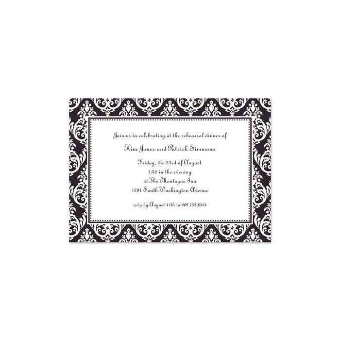 Madison Black Invitation