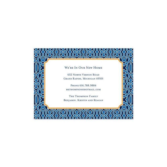 Cameron Blue Invitation