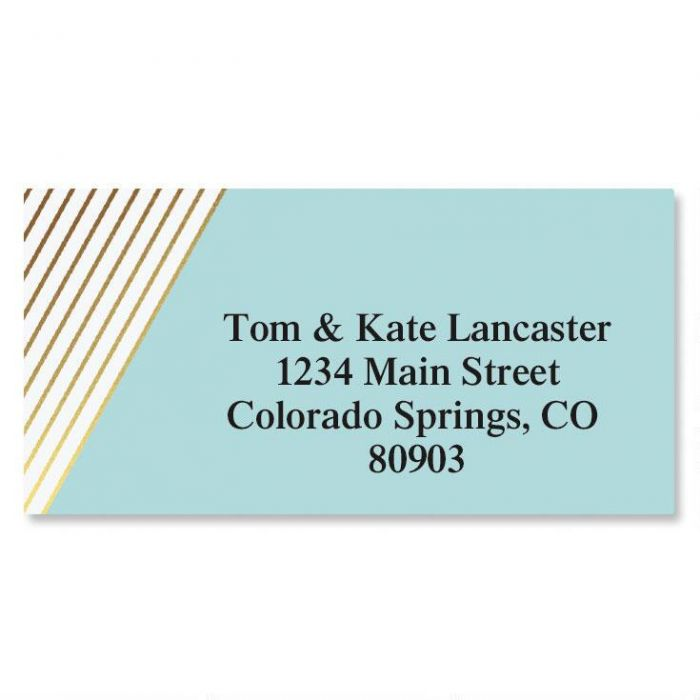 Contempo Foil Border Custom Address Labels