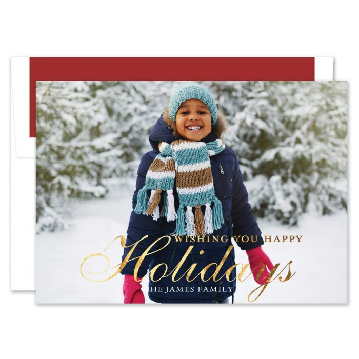Traditional Holiday Photo Card
