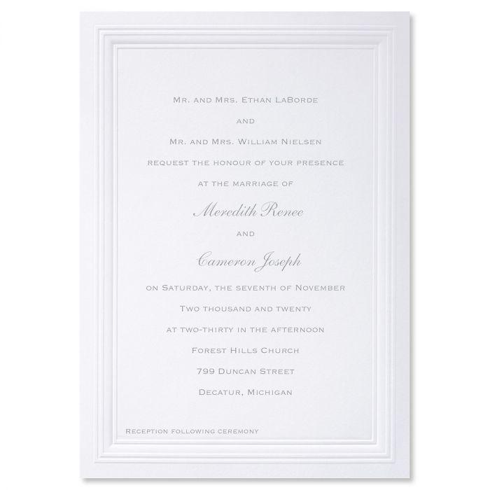White Paneled Invitation