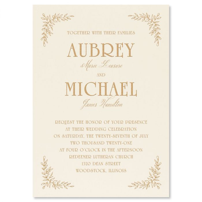 Precious Vines Invitation