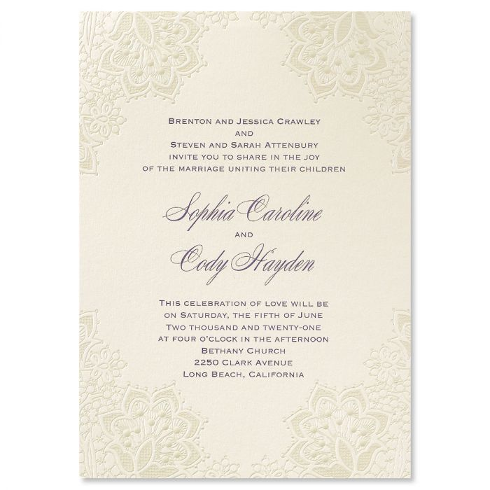 Lace Shimmers Invitation